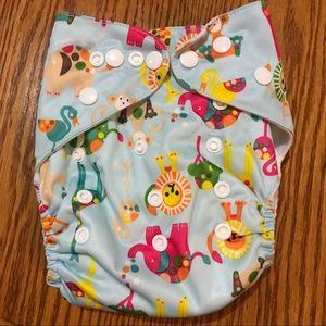 Other - 👶New Animal print cloth diaper + Insert 👶